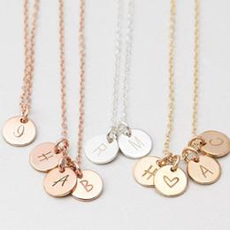 $enCountryForm.capitalKeyWord Australia - Personalized Letters Coins Necklace Handmade Custom Rose Gold Choker 7mm Pendant Collier Femme Kolye Collares Jewelry Riverdale J190620