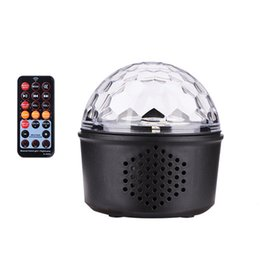 $enCountryForm.capitalKeyWord UK - Mini Voice Activated USB Crystal Magic Ball LED Stage Disco Ball Projector Party Lights Rotary Flash DJ Lights for Home KTV Bar Car