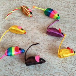 rat toys Canada - False Mouse Toy Squeak Noise Sound Cat Toy Stylish Cute Little Mouse Rat Playing Toys Pet Supplies Toys False Mice