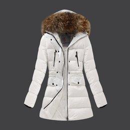 Venta al por mayor de 2015 señoras abrigo largo chaquetas de invierno para mujeres chaquetas de invierno abrigos de 4 bolsillos cálidos parka piel real