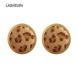 Neue Koreanische Trendy Leopard Kuh Samt Runde Kreis Ohrringe Für Frauen Einfache Taste Ohrstecker Geometrische Fashion Party Schmuck