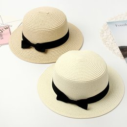 $enCountryForm.capitalKeyWord Australia - Women Summer Hat Beach Straw Hat Panama Ladies Cap Fashionable Handmade Casual Flat Brim Bowknot Sun Hats for Women