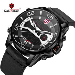 Luxury Sport Casual Watches Australia - 2019 Men Watches Luxury Sport Watch LED Display Digital Wristwatch TOP Brand KADEMAN Casual Leather Clock Army Relogio Masculino