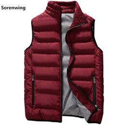 Wholesale vest mens for sale - Group buy New Vests Men Mens Sleeveless Jacket Cotton Padded Men s Vest Autumn Winter Casual Coats Male Waistcoat XL