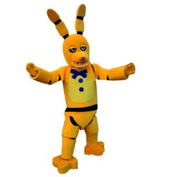 mascot toys NZ - Five Nights at Freddy's FNAF Toy Creepy Yellow Bunny Mascot Costumes Cartoon Character Adult Sz 100% Real Picture 056