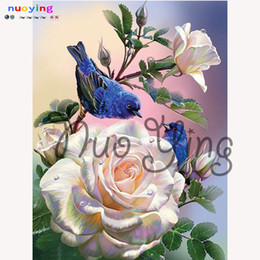 Watercolor Paintings Birds Australia - Needlework 5d Diy Diamond Painting Birds 3d Diamond Embroidery Animal Crafts Drill Full Embroidery Home Decoration Flower Pa289