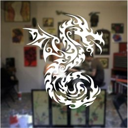 planes wing Australia - Creative Design Dragon Wings Wall Sticker Vinyl Art Home Decor Room Animal Window Decor Mural Removable Tattoo Shop Door