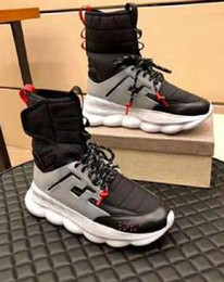 $enCountryForm.capitalKeyWord Australia - 2019 Newest Casual shoes Luxury Designer Medusa Chain Reaction Sneakers Trainer Casual Shoes Lightweight Chain-linked Rubber Sole A22