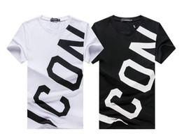 Casual Carta ICONO nuevo estilo Tide Marca Hombres camiseta de algodón pintar inversa cursor delgada serpiente alta calidad de lujo camiseta tops casuales Tees en venta
