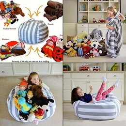 $enCountryForm.capitalKeyWord NZ - Stuffed Animal Storage Bean Bag Chair 61cm Portable Kids Toy Organizer Play Mat Clothes Home Organizers ST362