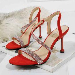 $enCountryForm.capitalKeyWord Australia - 19 Fashion new women European Luxury Style Classic Diamond high-heeled Sandals Ladies Dress Party Wedding Open Toes Shoes Buckle PU outsole