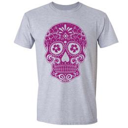 760c9f09 Sugar Skull Day of the Dead T-shirt Pink Mexican Gothic Dia Los Muertos  shirt cattt windbreaker Pug tshirt
