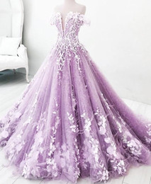 Images Brooch Flowers NZ - Luxury Elegant Off the Shoulder Prom Dresses Long 2019 3D Handmade Flower Bead Lace Formal Evening Gowns Red Carpet Dress Celebrity Gown