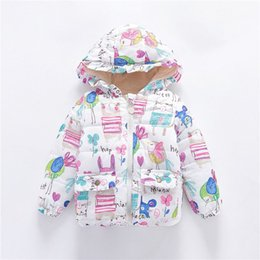 Discount newborn baby clothes for winter - Autumn Winter Baby Girls Warm Jackets Infant Outerwear Cotton Hooded Coats For Baby Jacket Coat Newborn Girls Clothes