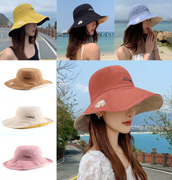 side sun shade Australia - 7 style Wide Fisherman Hat Women Summer Shade Double-sided Breathable Thin Bucket Caps Sun Hat Outdoor Cap da584