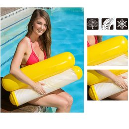 $enCountryForm.capitalKeyWord NZ - Newly Inflatable Water Hammock Floating Bed Lounge Chair Drifter Swimming Pool Beach Float for Adult