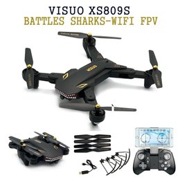 Helicopters Toys Camera Australia - Eachine VISUO XS809S BATTLES SHARKS 720P WIFI FPV With Wide Angle HD Camera Foldable RC Quadcopter RTF RC Helicopter Toys