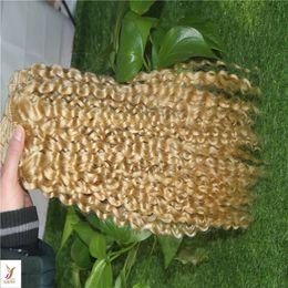 $enCountryForm.capitalKeyWord Australia - #60 Platinum Color Indian Curly Hair Extensions 100% Human Hair Weave Bundles 10-28 Inchs Double Weft Hair Weaving 6a Unprocessed