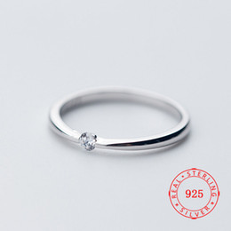 $enCountryForm.capitalKeyWord Australia - New arrival Chic 925 Sterling Silver Solitaire Ring Cubic Zirconia Girl Ring Designed for Couple woman white gold plated jewellry wholesale