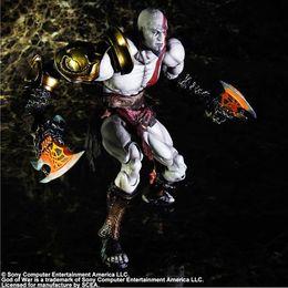 "God War Figures Australia - PLAY ARTS 10"" GOD of WAR Kratos PVC Action Figure Collectible Model Toy"