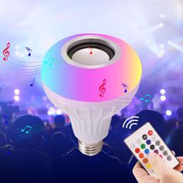 $enCountryForm.capitalKeyWord Australia - Intelligent Bluetooth Music Bulb led Colorful Bluetooth Speaker Bulb E27 Wireless Sound Bulb Lamp with Remote Control