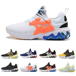 Haute qualité React Presto hommes femmes chaussures de course triple noir rabid Panda Breezy Brutal Honey formateur mens respirant sport baskets