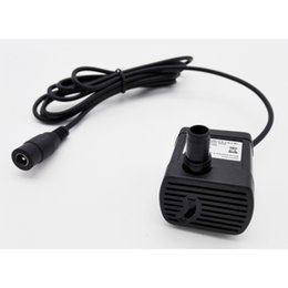 12v 5v micro usb Canada - Home Improvement JT-1020 5.5*2.1mm or USB Connector Brushless DC 5V 150L h 12V 280L h Micro Submersible Aquarium Water Pump