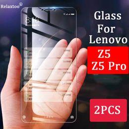 Z Packs Australia - 2pcs For lenovo z5 glass z 5 pro 5z screen protector tempered film protective glas protection protect protector 2 pcs pack phone