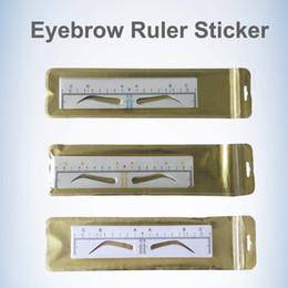 Großhandel Einweg Microblading Augenbraue Lineal Aufkleber Tattoo Zubehör Permanent Make-Up Messwerkzeug Shaping Eyebrow Template Schablonen Versorgung