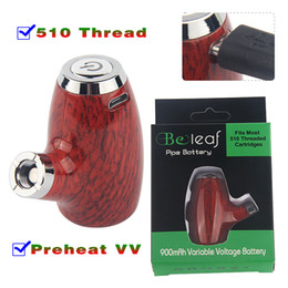 charger pipe 2019 - Small 510 Thread Battery Variable Voltage E Pipe 900 mAh Micro USB Charger Preheating VV Vape Pen KY32 Beleaf Box Mod St