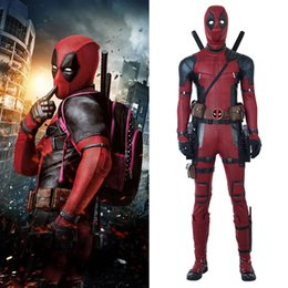 Wholesale deadpool costume xxs online – ideas SITECOSPLAY Deadpool Wade Wilson Red Jumpsuit Men Halloween Cosplay Costume With Boots Custom Made Marvel Movie Superhero