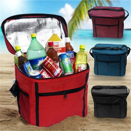 Waterproof rolling box online shopping - Oxford Lunch Box Bag Heat Insulation Collapsible Aluminum Foil Pure Color Wrap High Capacity Waterproof Picnic Package Portable bkb1