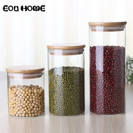 $enCountryForm.capitalKeyWord Australia - 450 650 950ml Multipurpose Bamboo Lid Glass Airtight Canister Storage Bottles Jars Grains Leaf Coffee Beans Candy Jar