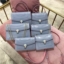 $enCountryForm.capitalKeyWord Australia - Elegant2019 Head Color Candy Layer Cowhide Snake Trend Renovate Chain Woman Single Shoulder Span Small Square Package