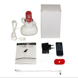 Wholesale CJ7000 white color abs material remote control built in buzzer tabletop mobile phone burglar alarm holder