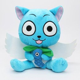 cute japanese anime figure Australia - Cartoon Fairy Tail Plush Toys Cute Happy 30cm Dolls Japanese Anime Cartoon Stuffed Figure Toys