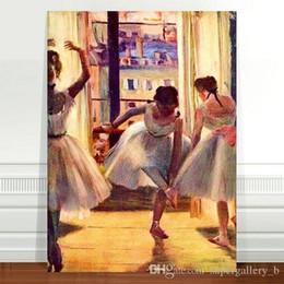 $enCountryForm.capitalKeyWord Australia - Edgar Degas Three Ballet Dancers Handpainted & HD Print Impressionist Portrait Art oil painting Home Decor On High Quality Canvas p215