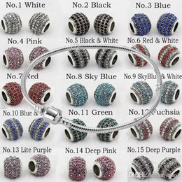 field glasses 2020 - DIY Bracelet Beads Silver Gold Crystal Field of Murano Glass European Charm Beads Strands Snake Bangles Jewelry Free Shi