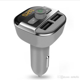 Car Calling Australia - BT20 Upgarde Bluetooth Handsfree calling FM Transmitter music player support TF   U disk dual USB car charger universal