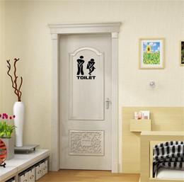 $enCountryForm.capitalKeyWord Australia - Fashion DIY Toilet Seat Wall Sticker Decals Vinyl Art Wallpaper Removable Bathroom Decor Wall Paper Stickers