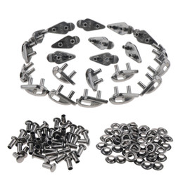 $enCountryForm.capitalKeyWord Australia - 20 Sets Alloy Shoe Lace Hooks with Rivets Shoelace Buckles Repair Camping Hiking Boots or Fashion Boots