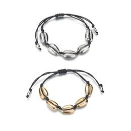 $enCountryForm.capitalKeyWord NZ - Shell Cowry Bracelets Boho Beach Seashell Women Bracelets Adjustable Jewelry