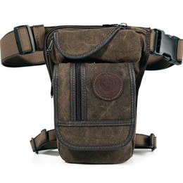 $enCountryForm.capitalKeyWord Australia - Canvas nylon Men Waist Pack Leg Drop Bags Motorcycle Crossbody Messenger Shoulder Belt Bum Male Hip Purse Pouch Thigh Fanny Bags J190718