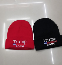 $enCountryForm.capitalKeyWord Australia - 2020 Trump Knitting Caps Beanies American Election Cap USA Flag Embroidered Knitted Caps Election Campaign Men Women Skull Cap Hats B81401