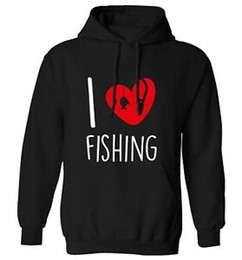 Fishing pullovers online shopping - I love fishing hoodie sweatshirt Father s Day rod line hook bait sport