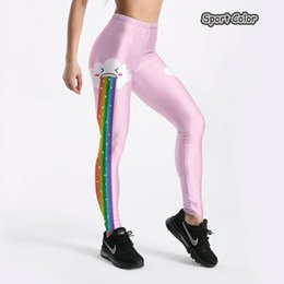 $enCountryForm.capitalKeyWord NZ - New Lovely Rainbow Women Sexy Leggings Trousers Yoga Fitness High Elastic 3D Cloud Gym Running Tights Slim Outdoor Pants S-4XL