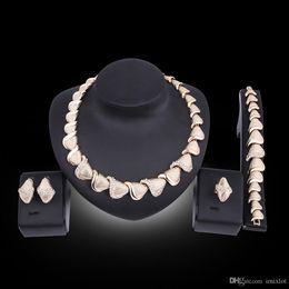 $enCountryForm.capitalKeyWord Australia - Top Exquisite Dubai Jewelry Set Luxury Gold Color Big Nigerian Wedding African Beads Jewelry Set Costume Design