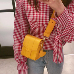 $enCountryForm.capitalKeyWord NZ - New Fashion Mobile Phone Bag Brand Wild Shoulder Crossbody Small Square Bags For Cute Girl Wide Shoulder Strap Design Small