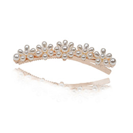 Hair Clip Animals Australia - Elegant fashion jewelry new product listing pearl hair clip for women girls hot sale hairgrips hairpin