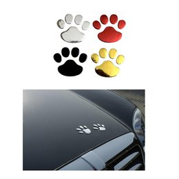 $enCountryForm.capitalKeyWord Australia - Car Sticker Cool Design Paw 3D Animal Dog Cat Bear Foot Prints Footprint 3M Decal Car Stickers Silver Gold Red